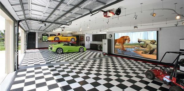 50 man cave garage ideas modern to industrial designs for Garage designs pictures