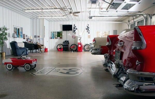 Awesome Man Caves Mens Garage Design Ideas