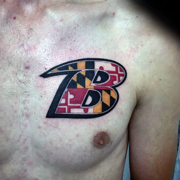 Awesome Maryland Flag Tattoos For Men