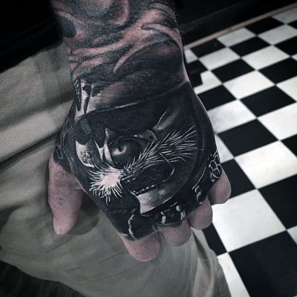 Awesome Mens Badass Hand Tattoo