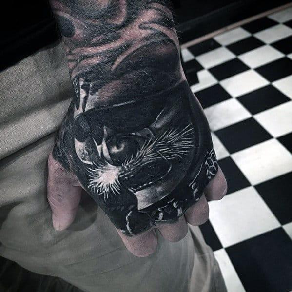 Awesome Mens Badass Hand Tattoo