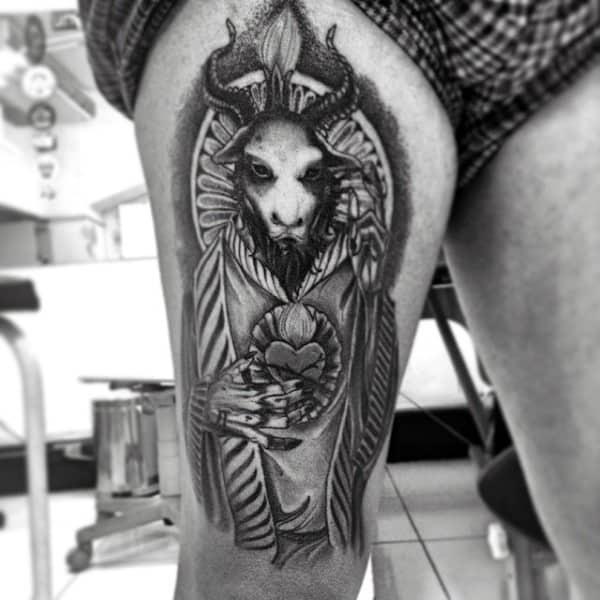 5ffd0ba38 50 Baphomet Tattoo Designs For Men - Dark Ink Ideas