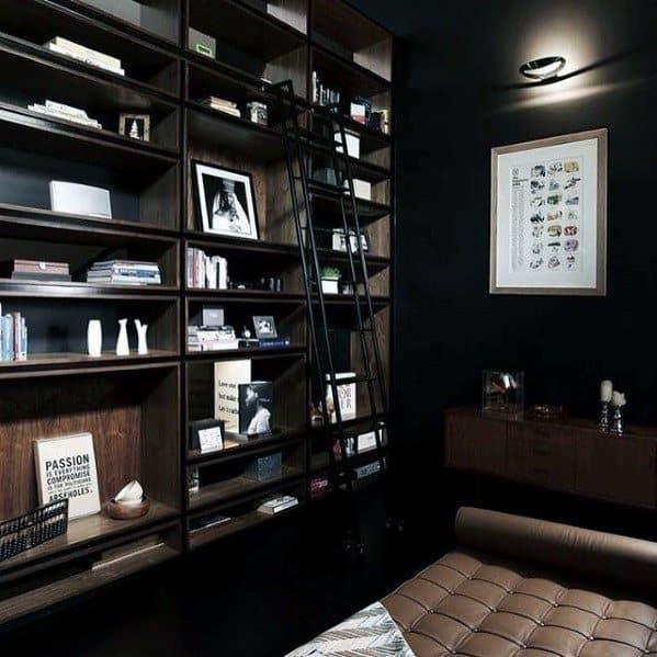 Awesome Mens Black Painted Walls Man Caves
