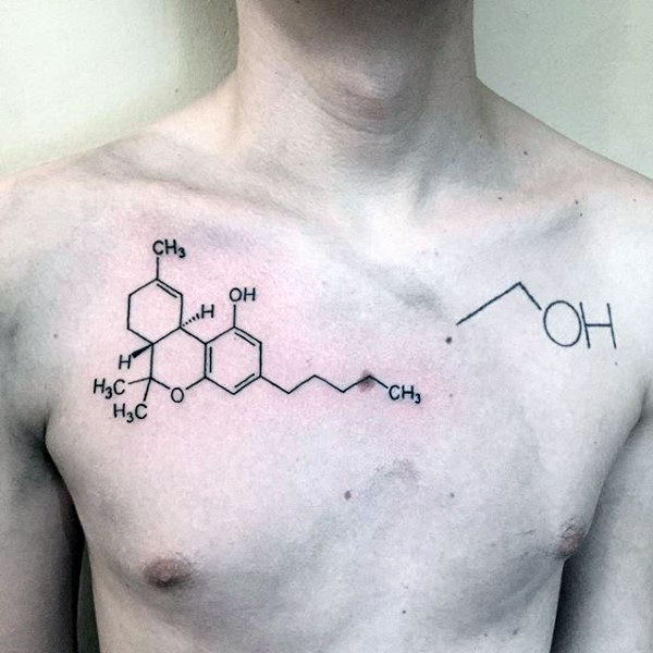 Awesome Mens Chemistry Chest Tattoos
