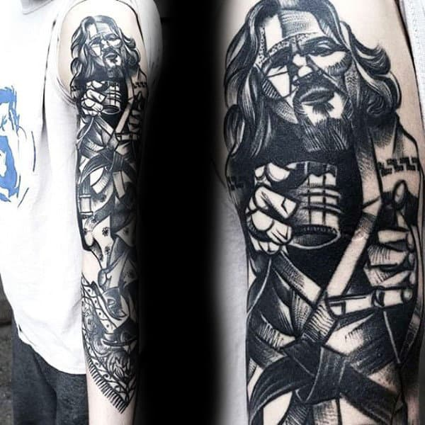 Awesome Mens Creative Jiu Jitsu Full Arm Tattoos