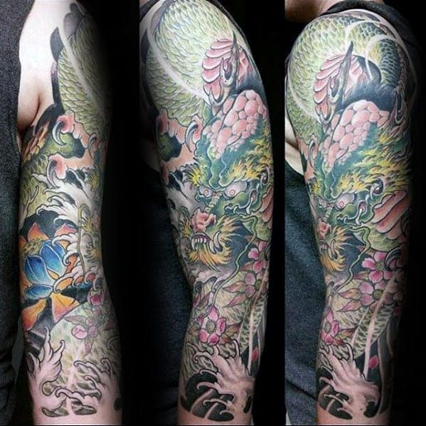 awesome-mens-floral-japanese-dragon-half-sleeve-tattoo – Copy