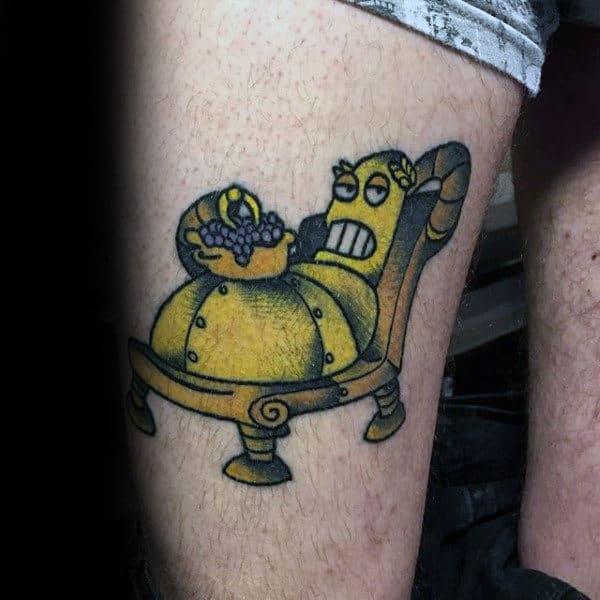 Awesome Mens Futurama Thigh Tattoos