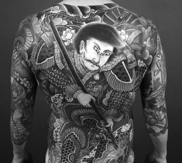 Awesome Mens Great Japanese Full Back Tattoo Design Idea