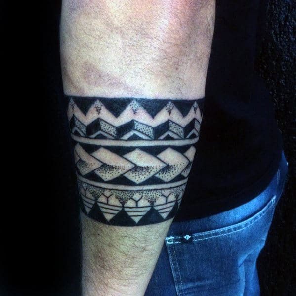 50 Tribal Armband Tattoo Designs For Men