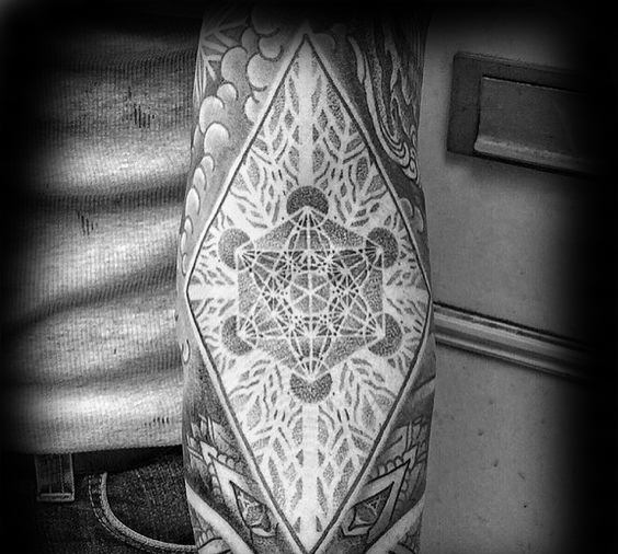 Awesome Metatrons Cube Tattoos For Men