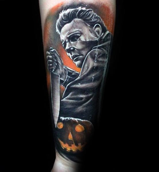 Awesome Michael Myers Tattoos For Men Forearm Sleeve