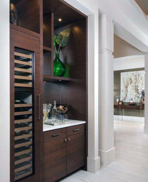 Awesome Mini Bar Ideas Wood Cabinets