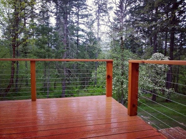 Awesome Modern Deck Railing Ideas With Metal Wire