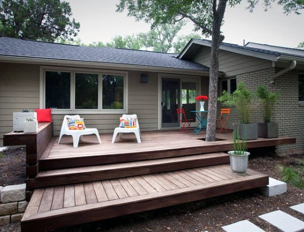 Awesome Modern Floating Deck Steps Ideas