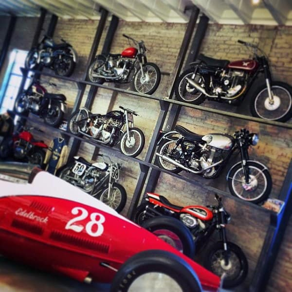 Awesome Motorcycle Wall Rack In Dream Garage