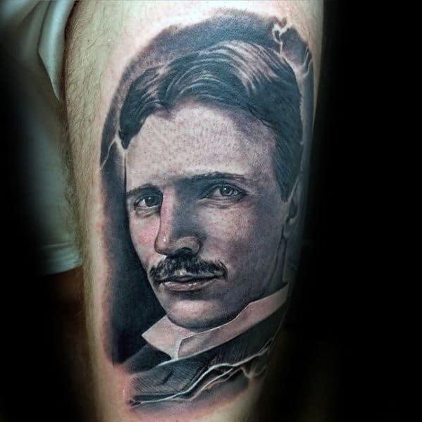 Awesome Nikola Tesla Tattoos For Men