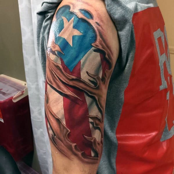 50 puerto rican flag tattoo ideas for men puerto rico designs. Black Bedroom Furniture Sets. Home Design Ideas