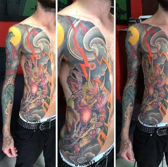 awesome-raijin-tattoos-for-men