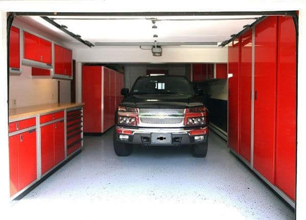 Awesome Red Garage Cabinet Ideas