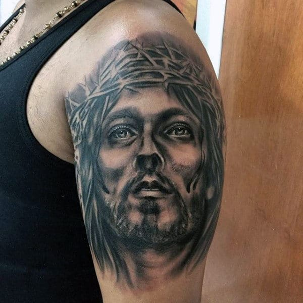 Awesome Religious Tattoo Male Arms