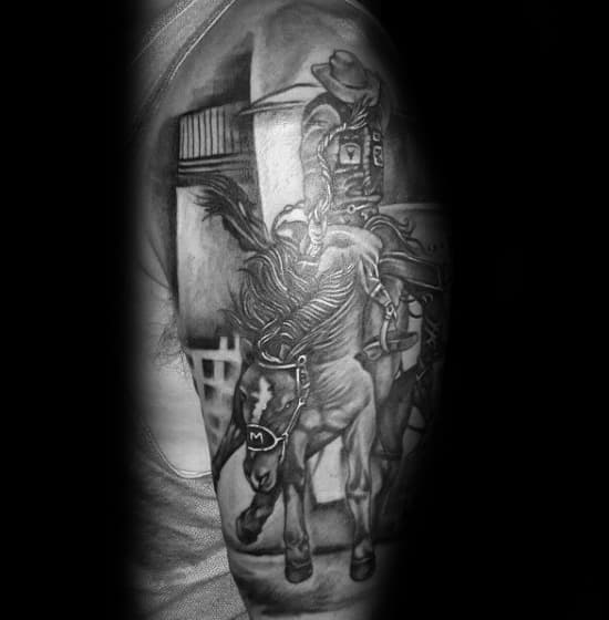 Awesome Rodeo Tattoos For Men