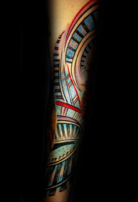Awesome Roller Coaster Tattoos For Men