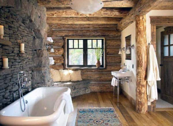 Rustic Bathroom Designs: Top 70 Best Rustic Bathroom Ideas