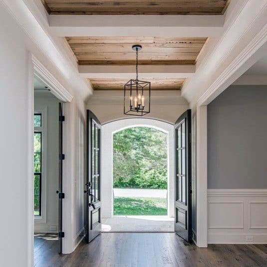 awesome rustic ceiling ideas for foyer - Rustic Ceiling Ideas