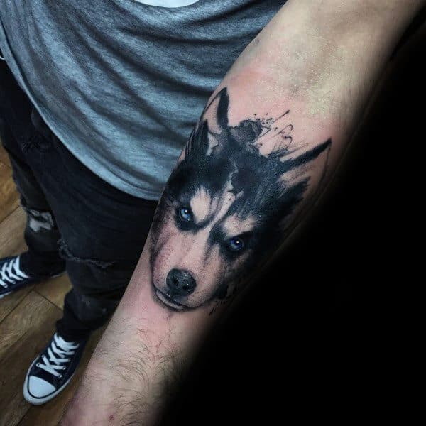 Awesome Siberian Husky Tattoos For Men