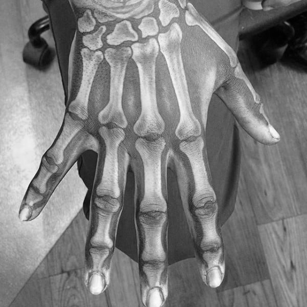 Awesome Skeleton Hand Male Tattoos