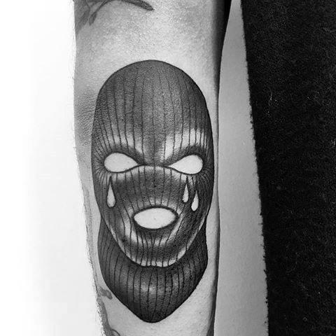 Awesome Ski Mask Tattoos For Men