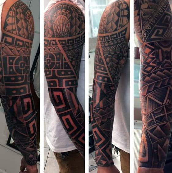 Awesome Sleeves Mens Arm Tribal Tattoo