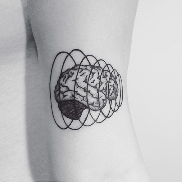 60 Brain Tattoo Designs For Men Intelligent Ink Ideas