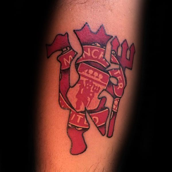 Awesome Soccer Manchester United Tattoos For Men
