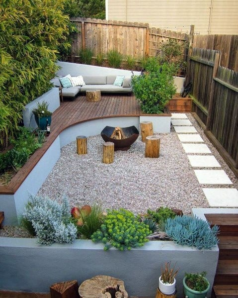 Awesome Stepping Stone Patio Backyard Ideas