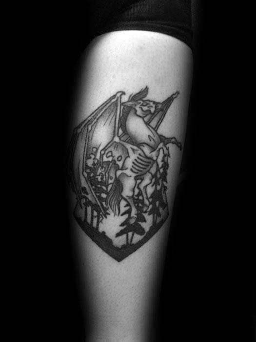 Awesome Thestral Tattoos For Men