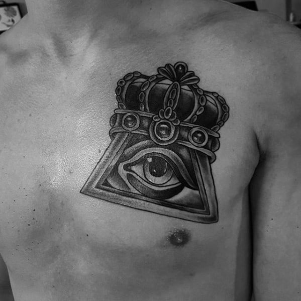 Awesome Traditional Crown Tattoos For Men