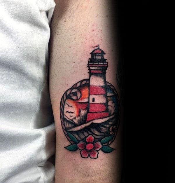 Lighthouse Tattoo: 40 Traditional Lighthouse Tattoo Designs For Men