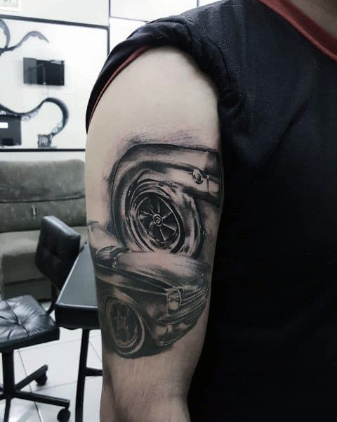 Awesome Turbo Tattoos For Men
