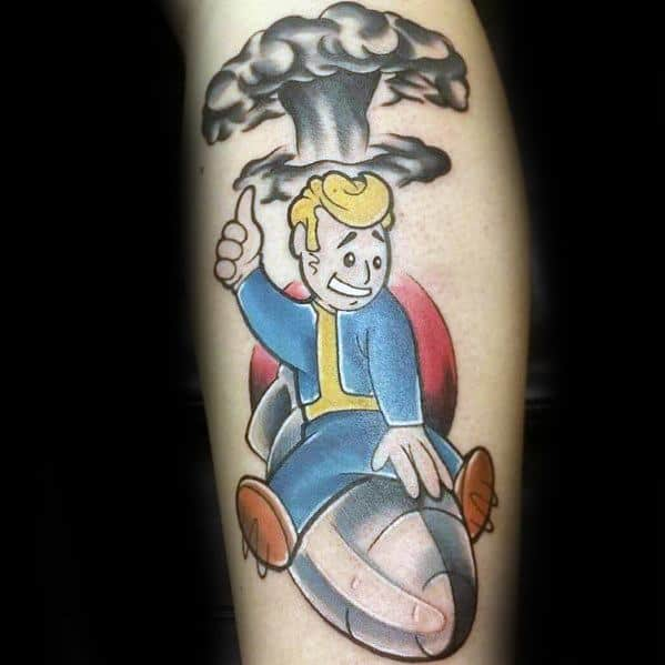 Awesome Vault Boy Tattoos For Men