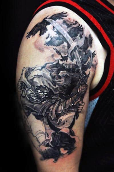 Awesome Warrior Guys Arm Tattoos