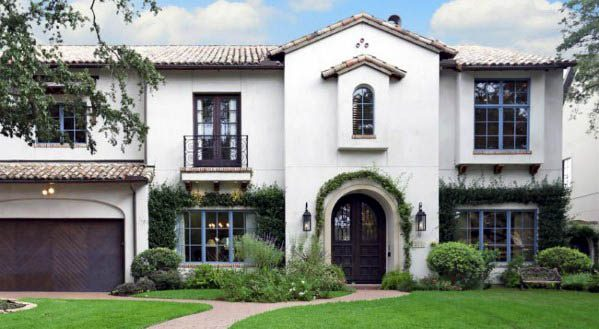 Awesome White Stucco House Paint Ideas
