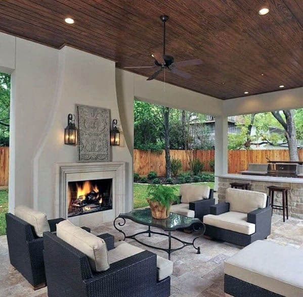 Top 50 Best Patio Ceiling Ideas