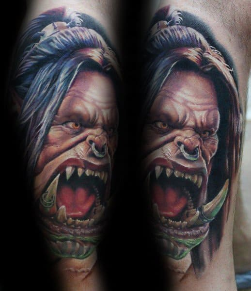 Awesome World Of Warcraft Gaming Tattoos For Men