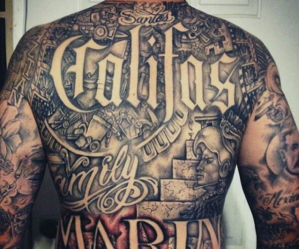 Aztec Back Tattoos For Men