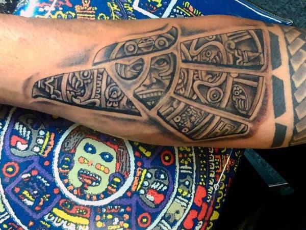Aztec Bicep Tattoo Men