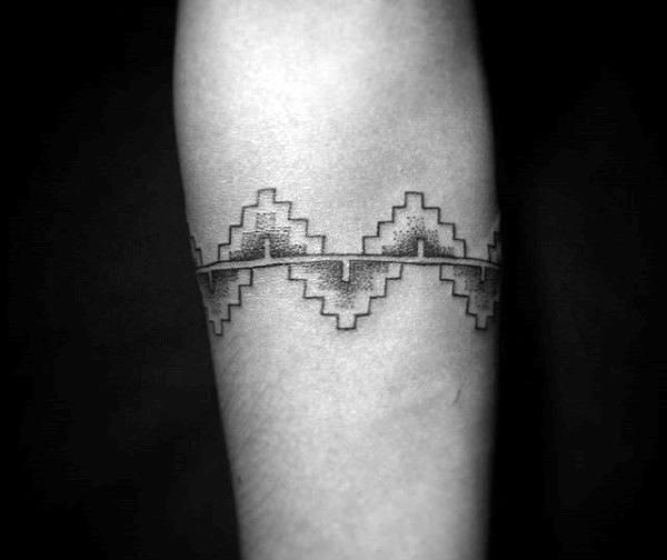 Aztec Wristband Tattoos