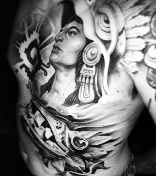 Aztec Chest Tattoos For Men