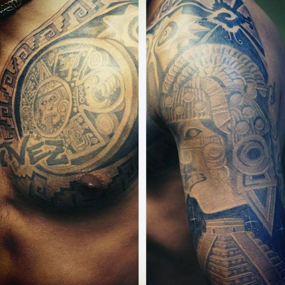 Aztec Men's Armband Tattoos
