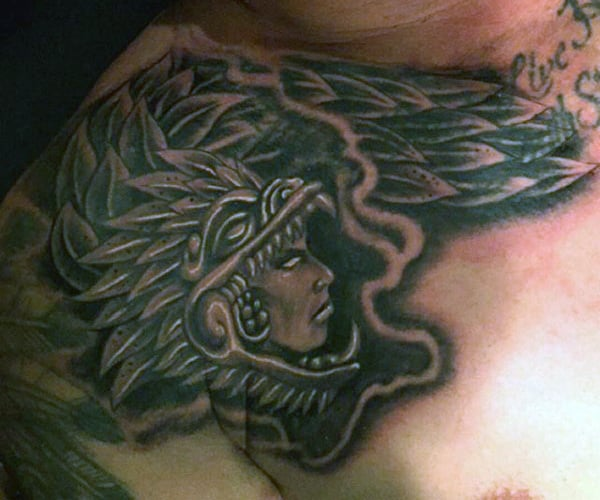 Aztec Pyramid Tattoos For Males